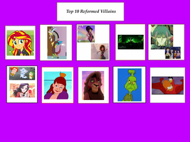 My Top 10 Reformed Villains by AriaVampireRose7