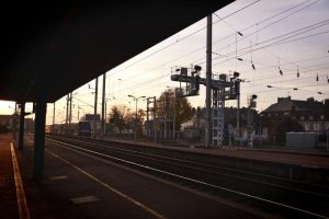 Waiting for a train I by entrepot