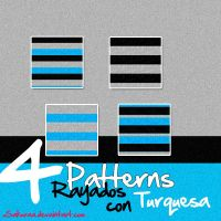 Patterns Rayados con Turquesa by xsakuraa