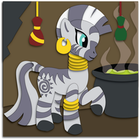 Shadowbox Mock-up:  Zecora by The-Paper-Pony