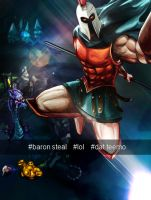 Pantheon Before Baron Steal Selfie by SHAWN-O-B0T