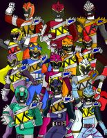 Fantasy Dino Charge Rangers by LavenderRanger