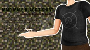 [MMD] Male Black T-Shirt Download by Sefina-NZ