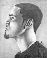 J Cole Portrait by BlkFlamez