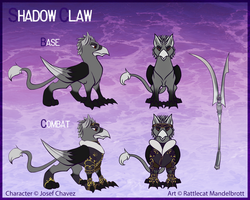 Commission - Shadow Claw Reference Sheet by Rattlesire