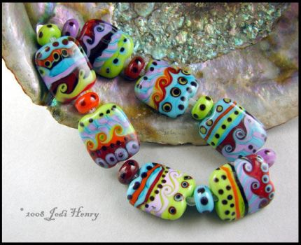 Seven Seas Glass Beads by andromeda