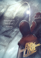 End of The Line RED Poster by Py-Bun