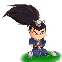 Yasuo and Poros by UnderValkyrie