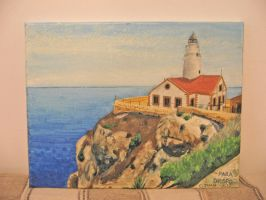 Capdepera lighthouse painting by Kysennah