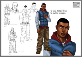Q aka William Rivers concepts by 133art