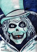 The Haunted Mansion's Hat Box Ghost by brodiehbrockie
