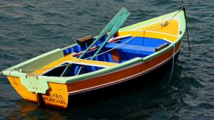 Colorful boat by UdoChristmann
