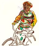 Psychedelic Cyclist by JoshByer