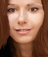 nice womans face WIP by mcgregaw