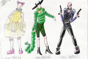 80's Arcade Game Fashion 1 by Mistress-D