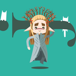 Happy Thranduil with white kittens-CLICK TO WATCH by SmilingOfTheHealer