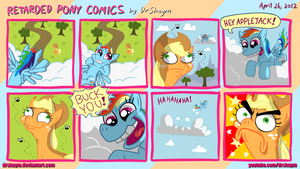 Retarded Pony Comic by DrShaym