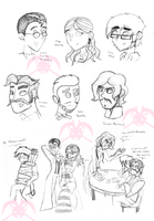MH: Victorian Doodles by KPenDragon