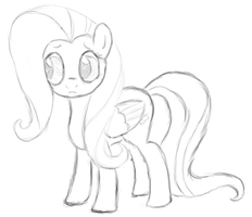 Fluttershy - MlP:FiM - Lineart by Jhyrachy
