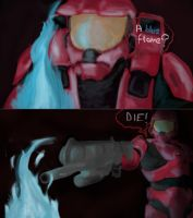Sarge hates Blue :D by Iceey23