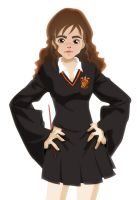 Hermione in PE uniform by yethro