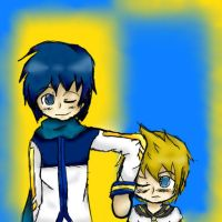 Kaito and Len by englandfangirl11