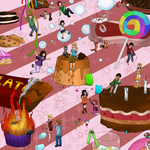Sandra and woo contest 2014 - candyland(?) by Kittyangelz3