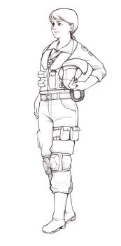Pilot character concept lineart by CplSquee