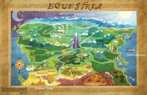 Map of Equestria by mojomcm