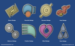 Pokemon Badges - Hoenn League by seancantrell