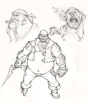 pirate lineart by ZurdoM