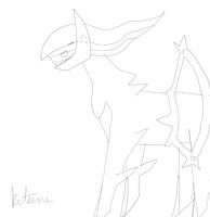 Lazy_Arceus_Drawing by Kitsunekitten1