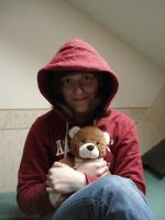 Maria with teddy bear by Lukotus