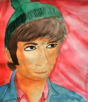 Mike Nesmith watercolor by Shankya