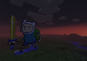 Finn da human in minecraft by netsku