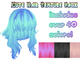 [MMD] Cute hair textures by MMDandSims3