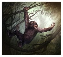 GreatApe-commission2- by RogueLiger
