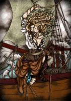 The Wind In Her Sails by androidfink