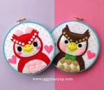 Animal Crossing Celeste and Blathers Hoops by iggystarpup