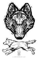 COMMISSION: Wolf Tats by grungepuppy