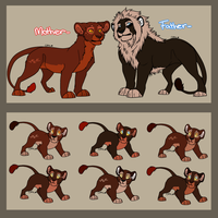 Lion King Adoptable 6 [CLOSED 0/6] by Balance-Song