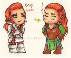 Crossover : Ygrid and Tauriel by Princess--Kimono