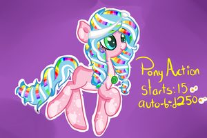 Rainbow pony Auction! CLOSED by Sweet-Forest-Adopts