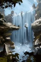 waterfall by InFlaamess