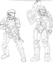 ODST and Master Chief by CrashyBandicoot
