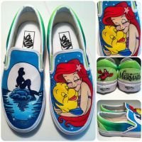 Little Mermaid Shoes by hcram5