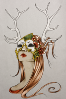 Masks + Antlers in Color by Camaryn