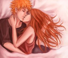 Ichigo and Orihime by girlUnknown
