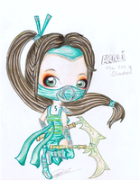League of Legends: Chibi Akali by iEmme