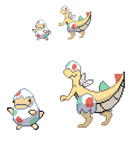 Eggon and Hovegg Sprites by JynxedOnes